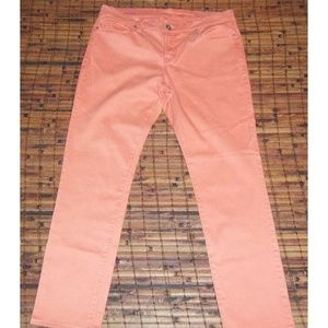 JCP skinny leg peachy pink stretch jeans 30 / 10